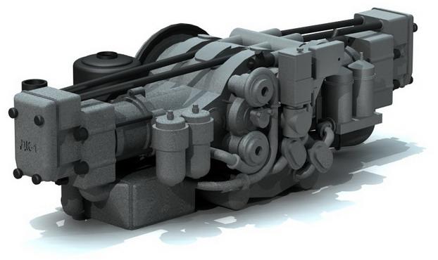 Дизель 2Д80ГКО – четырехтактный, двухцилиндровый, горизонтальный, оппозитный, крейцкопфный. Жидкостного охлаждения. С непосредственным впрыском топлива, с турбонаддувом и охлаждением наддувочного воздуха