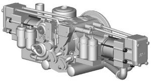 Дизель 2Д80ГКО , диаметр цилиндров 260 мм, ход поршня 270 мм, мощность 370 кВт