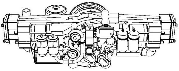 Внешний вид дизеля 2Д80ГКО, вид спереди