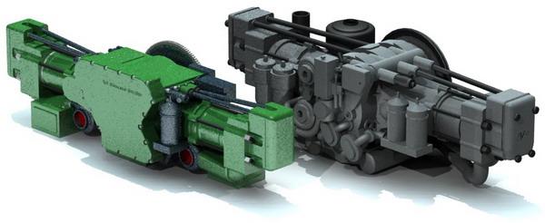 Внешний вид дизелей ДК1М (слева) и 2Д80ГКО (справа)